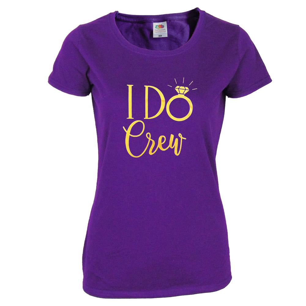 """Junggesellenabschied T-Shirt """"I Do Crew"""" - Lila"""