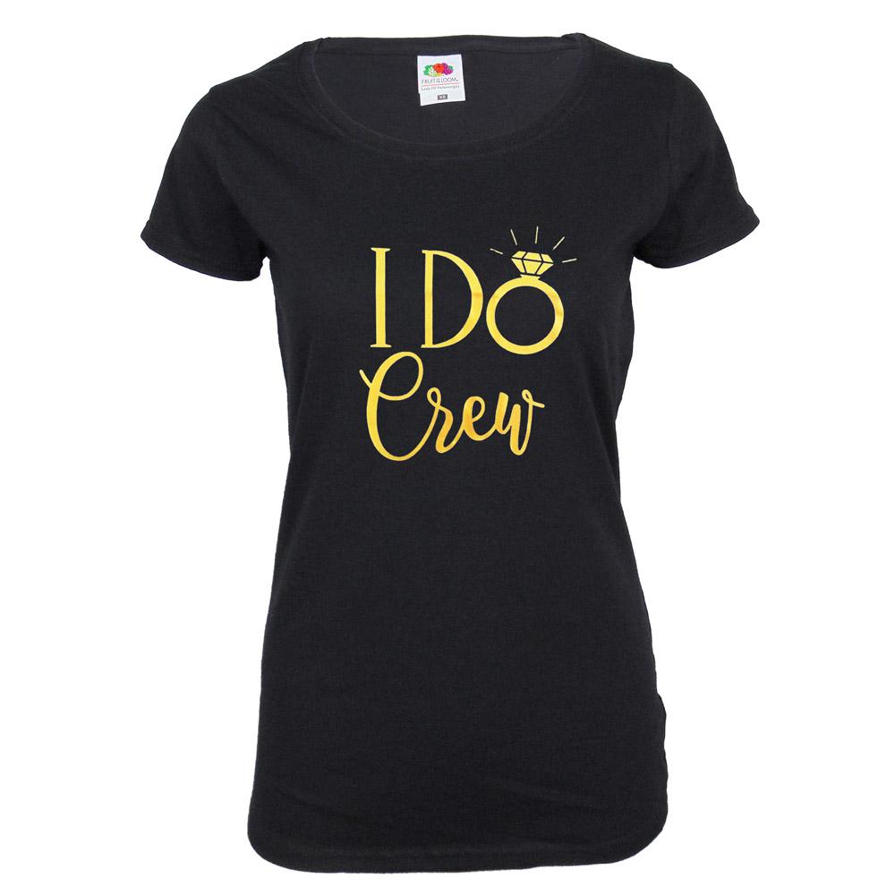 "Junggesellenabschied T-Shirt ""I Do Crew"" - Schwarz"