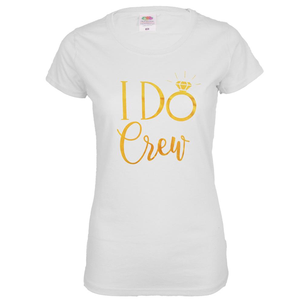 """Junggesellenabschied T-Shirt """"I Do Crew"""" - Weiß"""