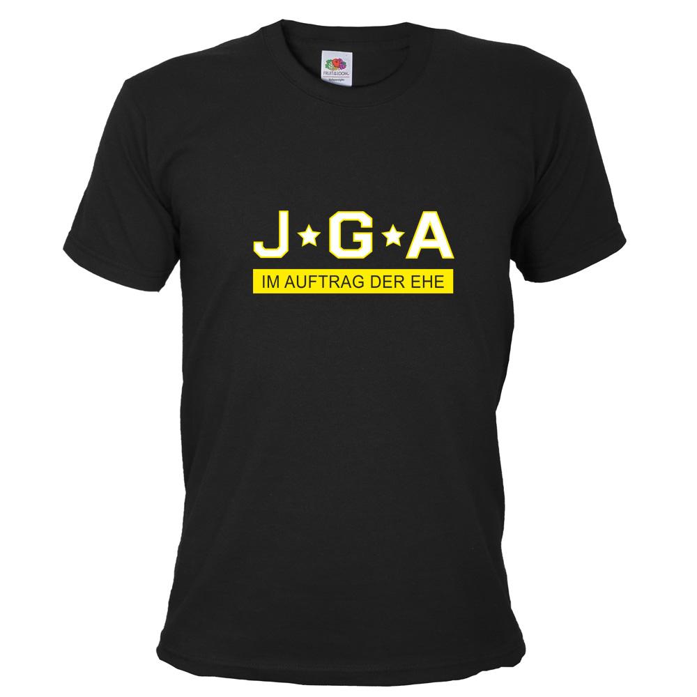 JGA T-Shirt Im Auftrag der Ehe - Schwarz