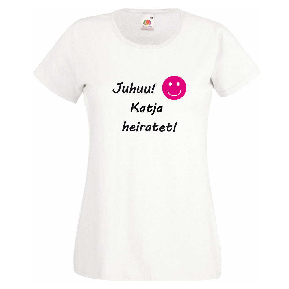 Personalisiertes JGA-Shirt - Juhuu Name heiratet