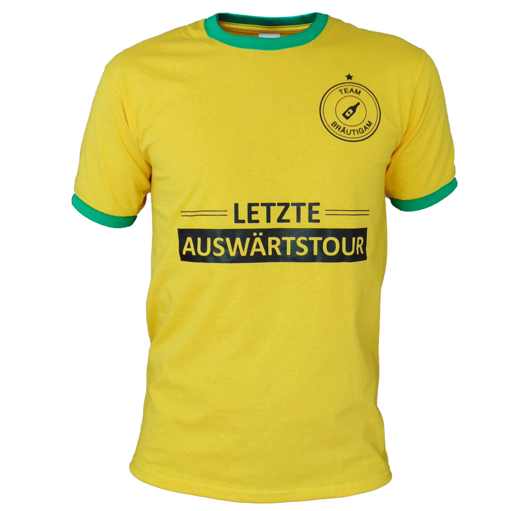 JGA T-Shirt Letzte Auswaertstour - Gelb
