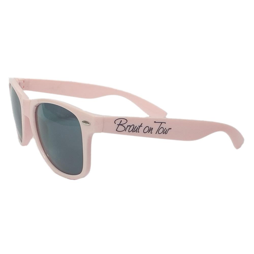 Braut-Sonnenbrille in Blush-Rosa für den Junggesellinnenabschied