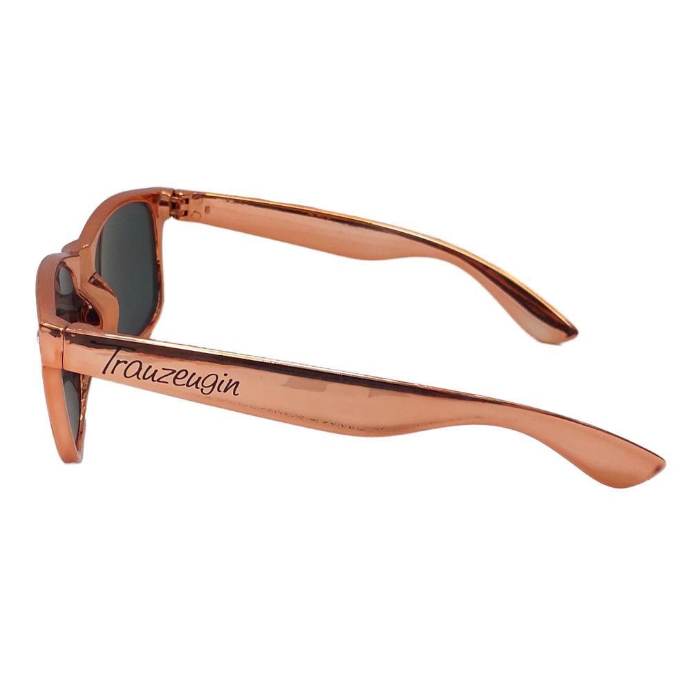 JGA-Sonnenbrille in Rose-Gold mit Trauzeugin-Aufdruck