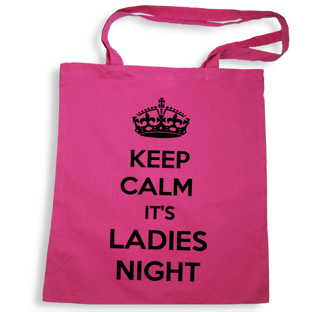Pinkfarbene Tote Bag mit Keep Calm-Motiv