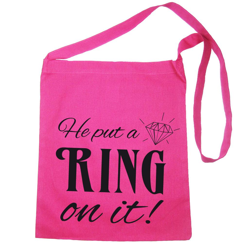 """JGA-Tasche mit """"He put a Ring on it""""-Schriftzug"""