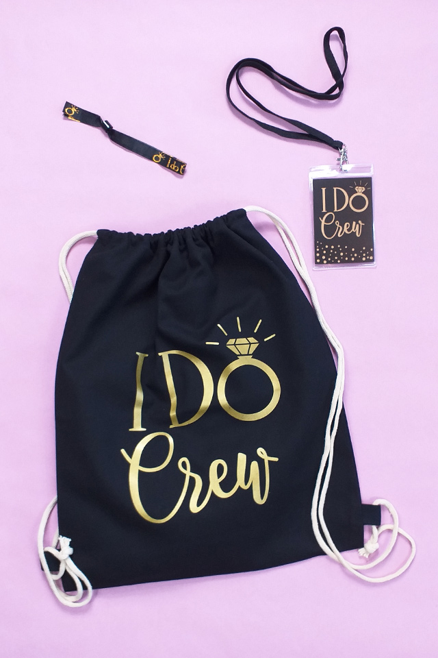 I Do Crew JGA Utensilien im Gold-Design