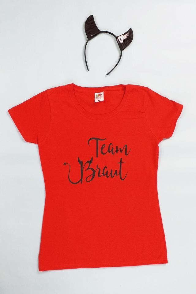 Team Braut JGA-Verkleidung im Teufel-Stil