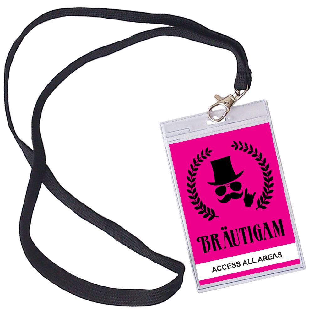 Braeutigam VIP Pass fuer den JGA - Pink