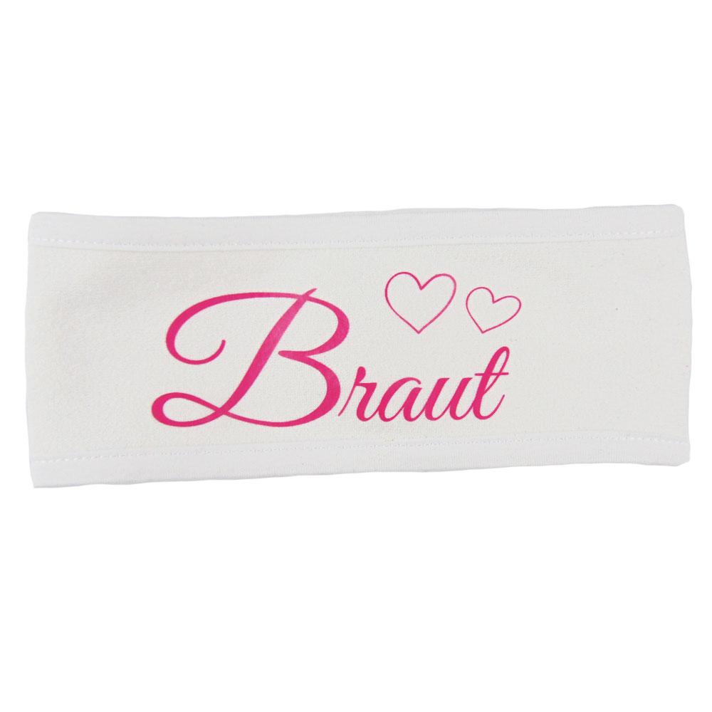 JGA Wellness-Haarband mit Braut-Aufdruck