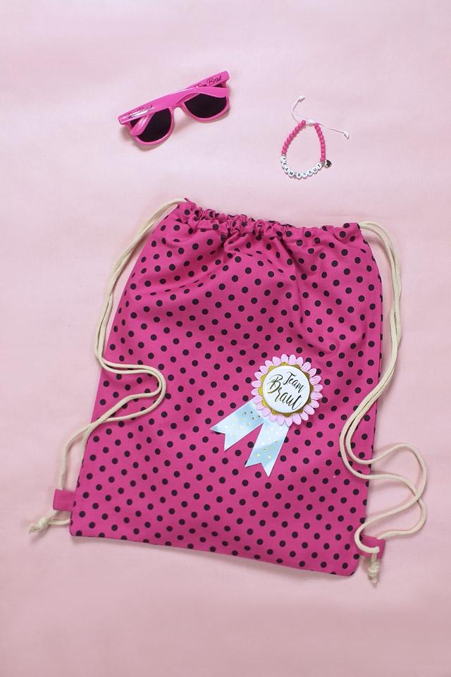 Pinkfarbenes JGA Gruppen-Zubehör für Damen