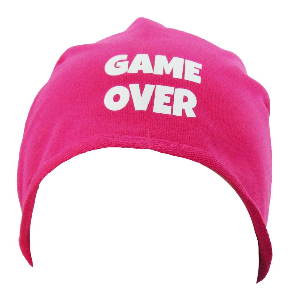 Pinkfarbene Game Over-Mütze - Junggesellenabschied-Zubehör