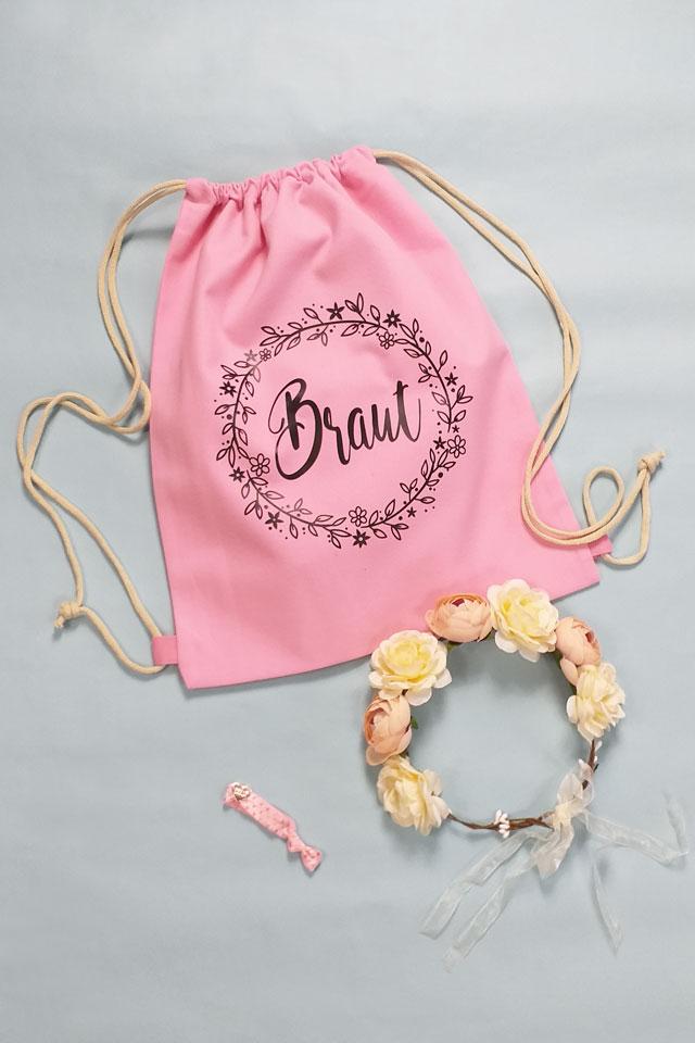 JGA Zubehör-Set für die Braut - Blumenkranz