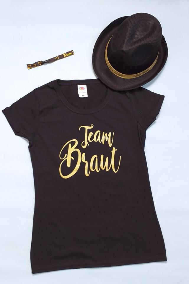 Junggesellenabschied-Outfit für Damen in Schwarz-Gold