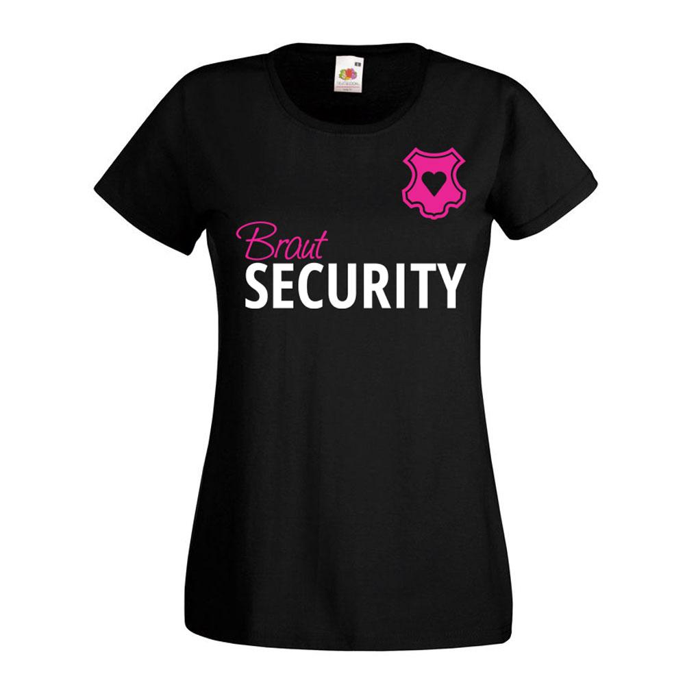 Junggesellinnenabschied-T-Shirt Braut Security