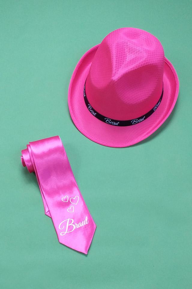 Pinkfarbene Junggesellinnenabschied-Utensilien für die Braut