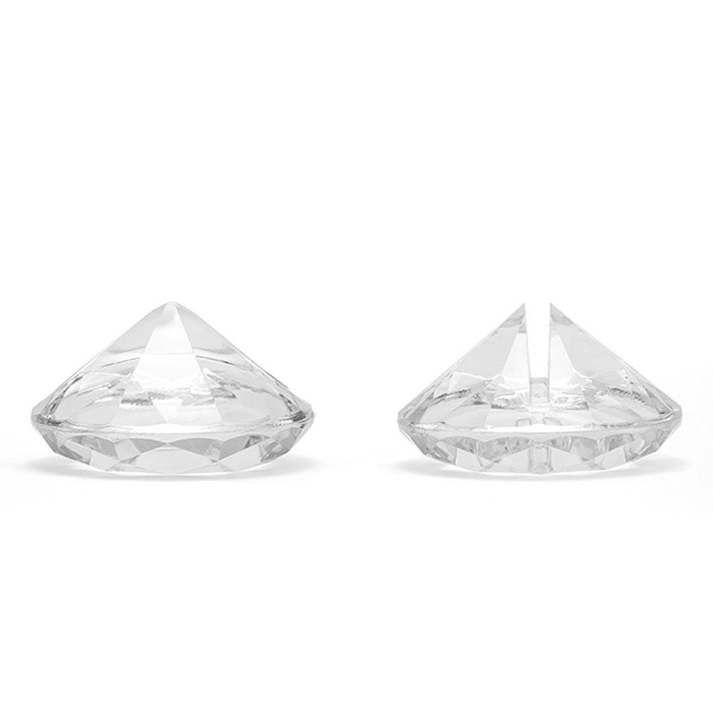 Transparente Tischkartenhalter in Diamantform