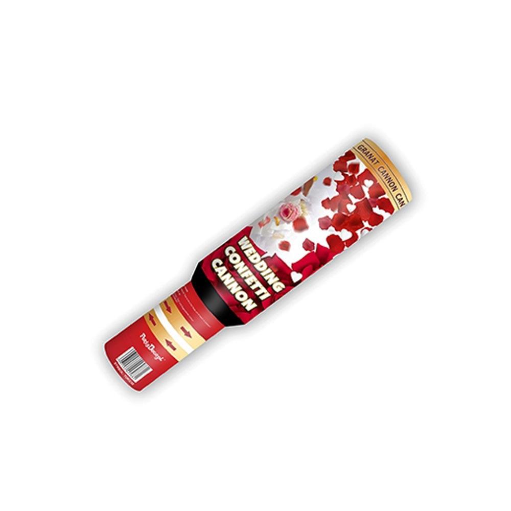 Konfettikanone mit Hochzeitskonfetti