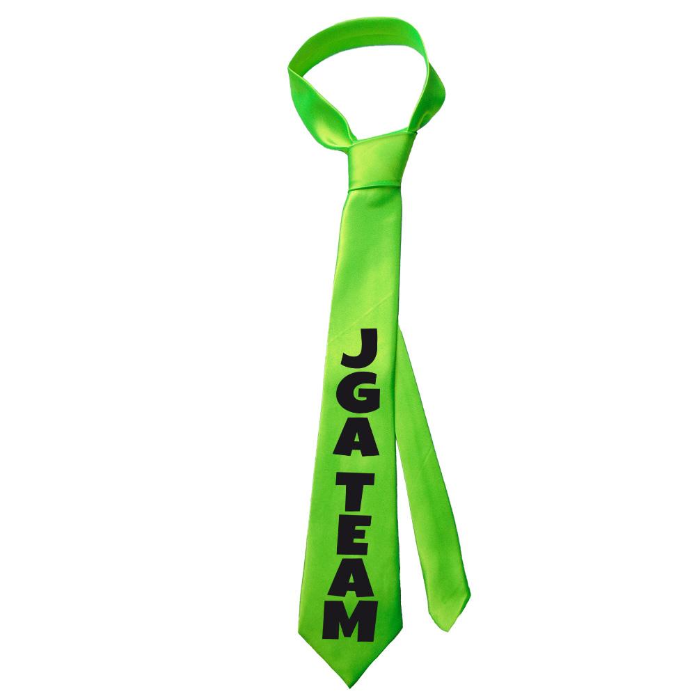 Junggesellenabschied-Krawatte JGA Team - Neongrün