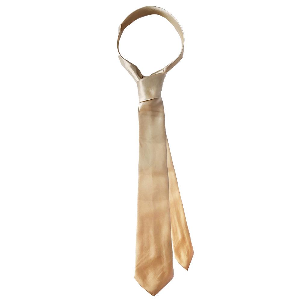 Goldfarbene Unifarbene Krawatte
