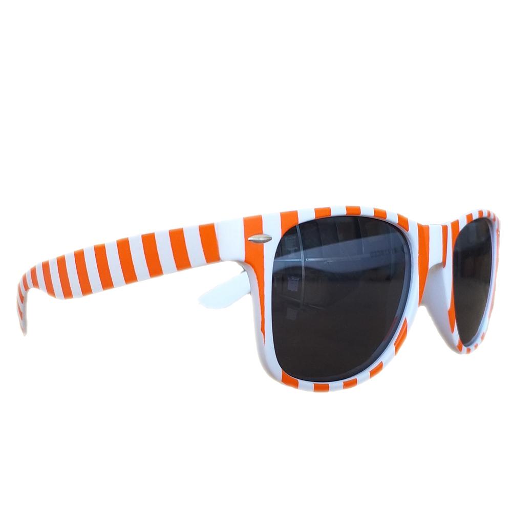 Leitkegel-Sonnenbrille - Brille mit Pylon-Verkehrshütchen-Muster