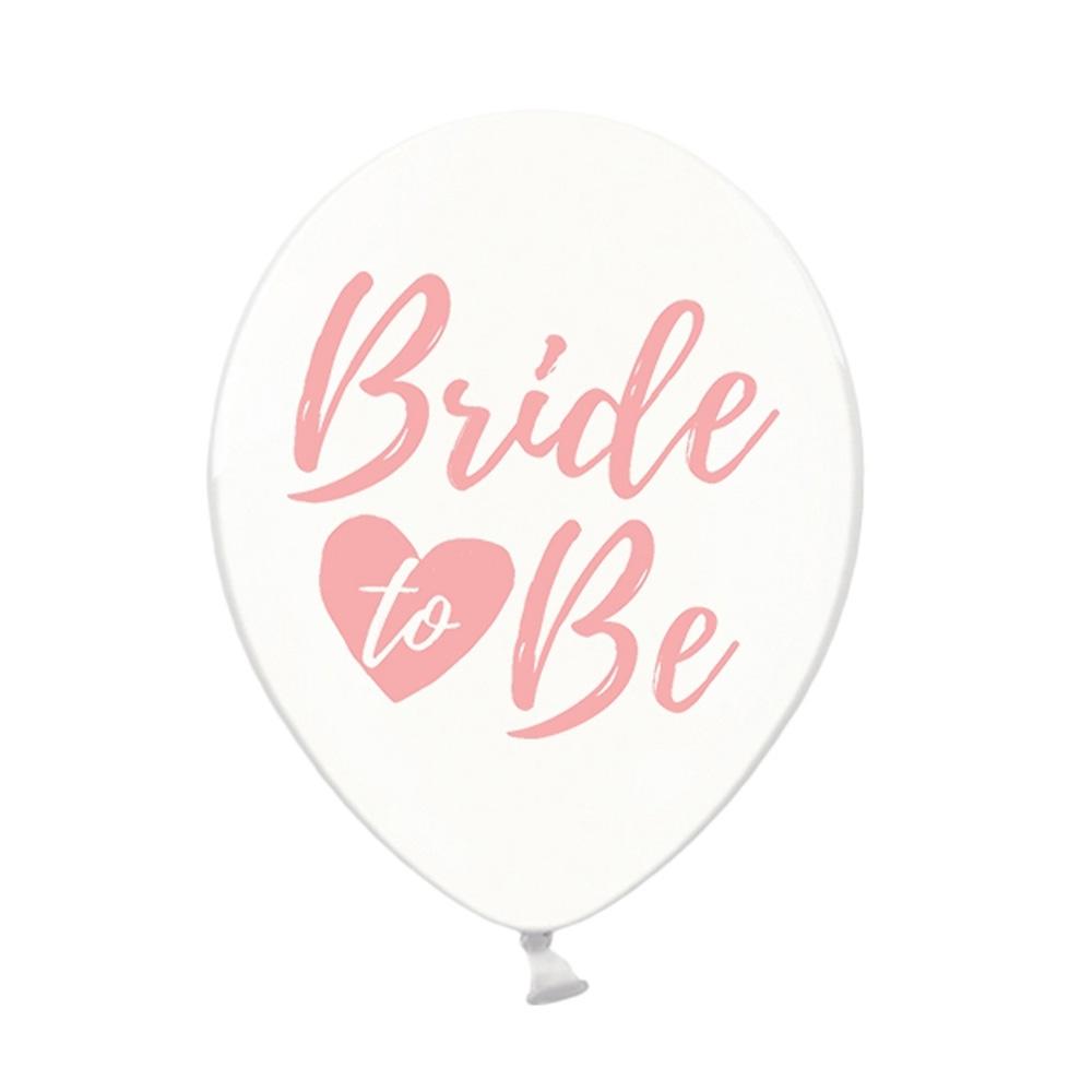JGA Luftballons mit Bride to be-Aufdruck - Transparent-Rosa