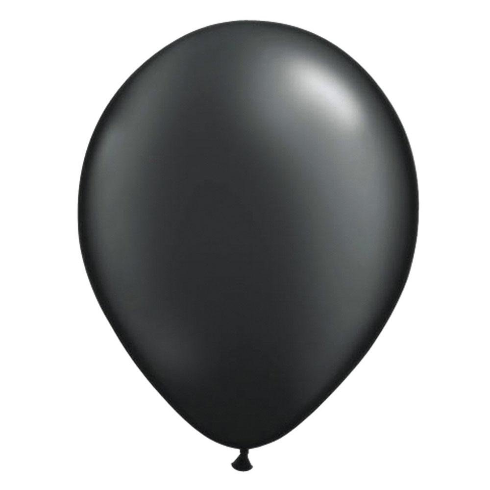 Schwarzer Latex-Luftballon
