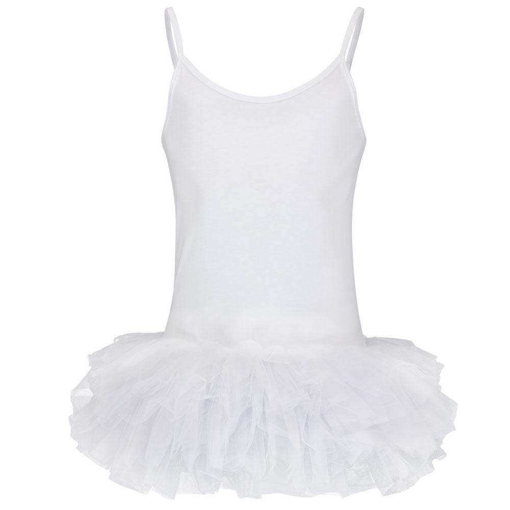 Weißes Fun-Ballettkleid für Männer mit Tütü und Top
