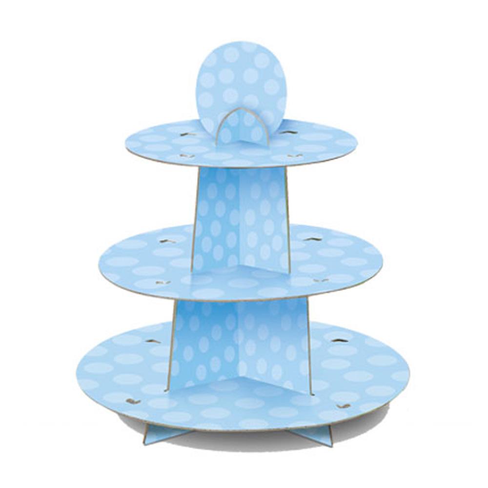 Hellblauer Muffinständer