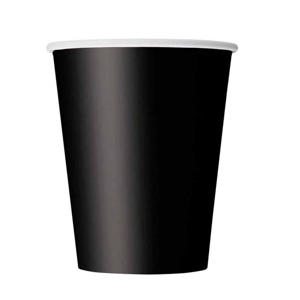 Schwarze Party-Pappbecher