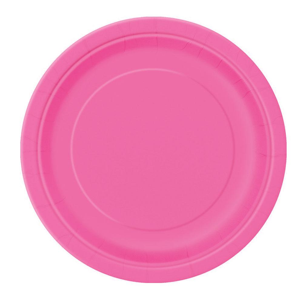 Pinkfarbener Pappteller