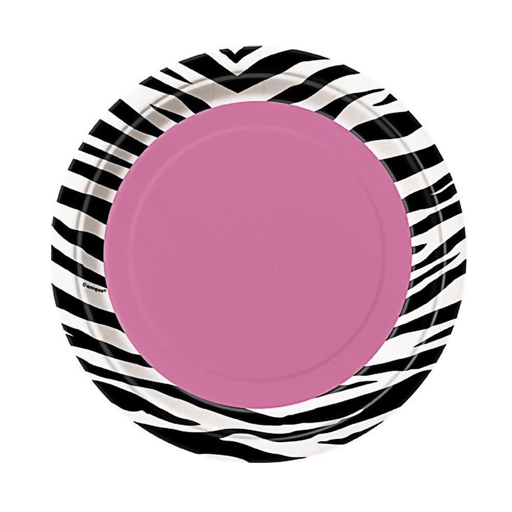 Pappteller im Zebra-Design