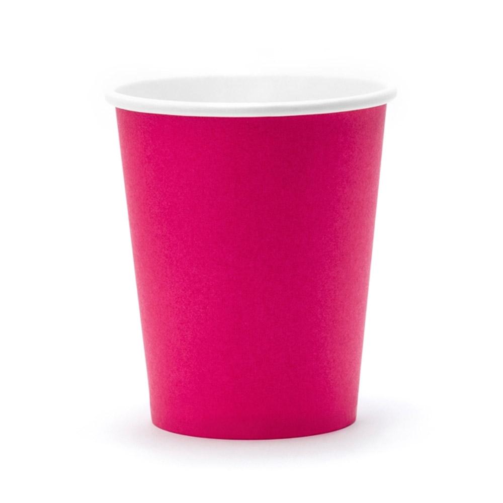 Pinkfarbener Pappbecher
