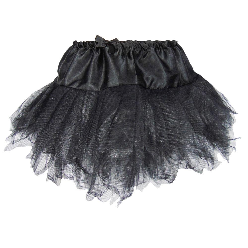 Schwarzer Damen-Hexenrock für Fasching