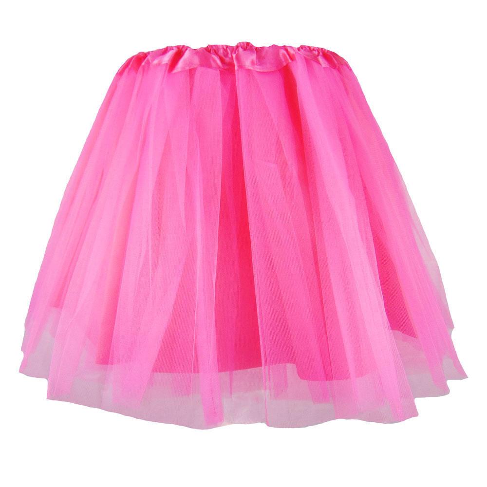 Blickdichter Tütü-Rock aus Tüll in Pink
