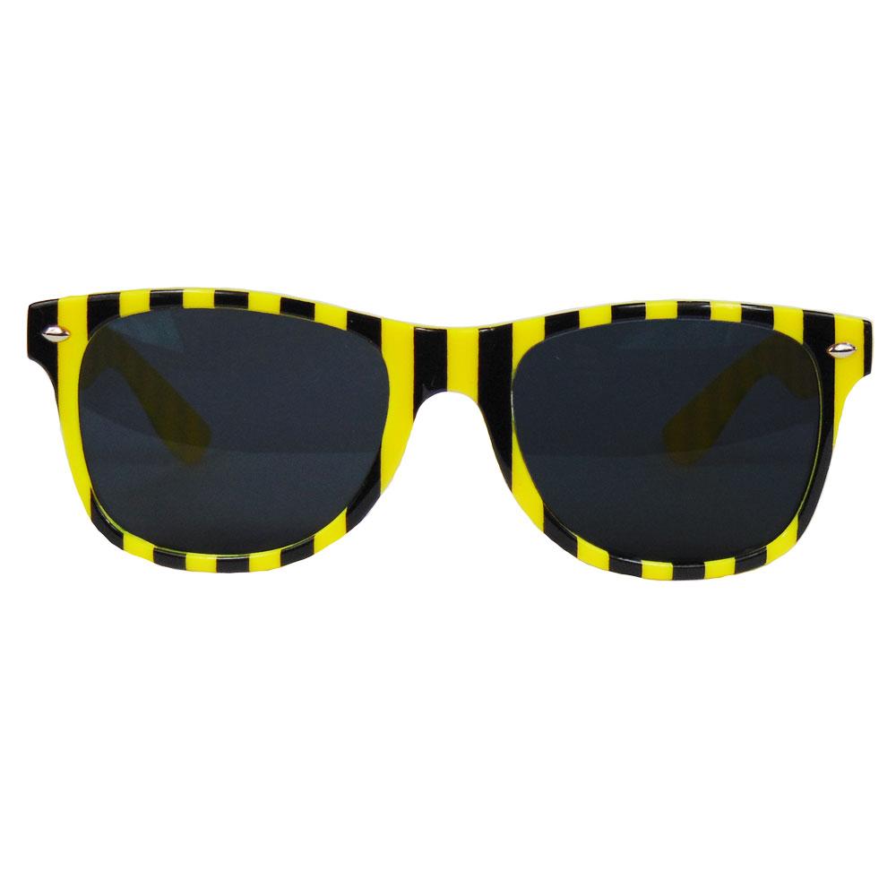 Fasching - Fun-Brille mit Bienen-Muster