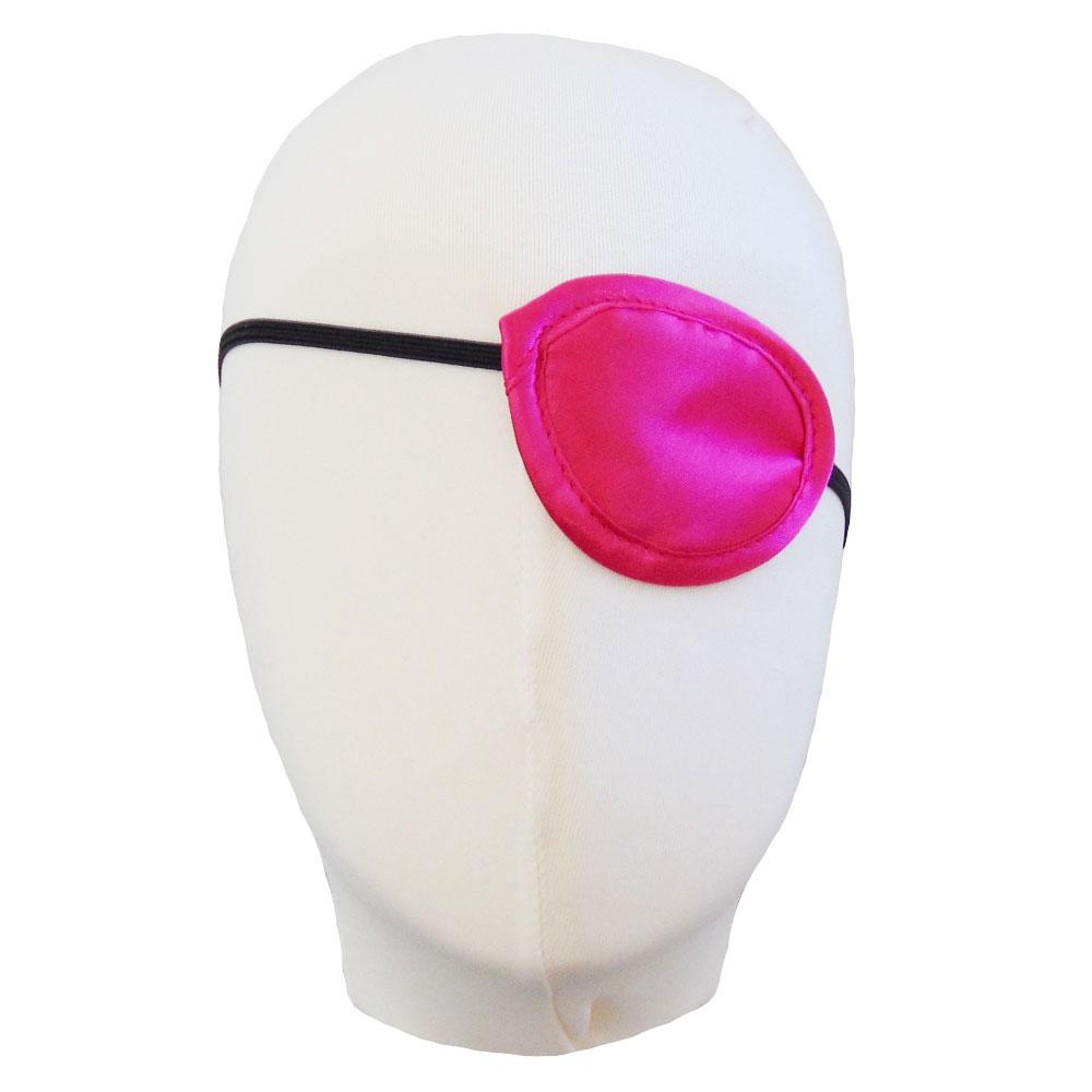 Pinkfarbene Stoff-Augenklappe für Piratenbraut-Kostüme - Kopf