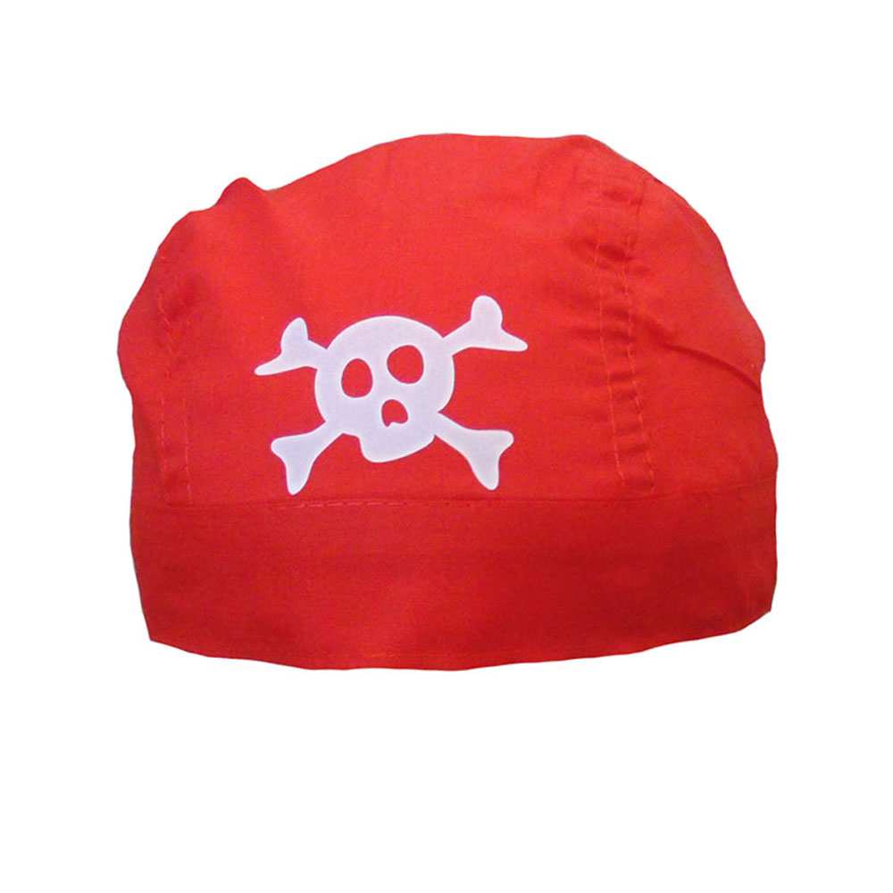 Rotes Piratenkopftuch - Piraten-Bandana für Fasching