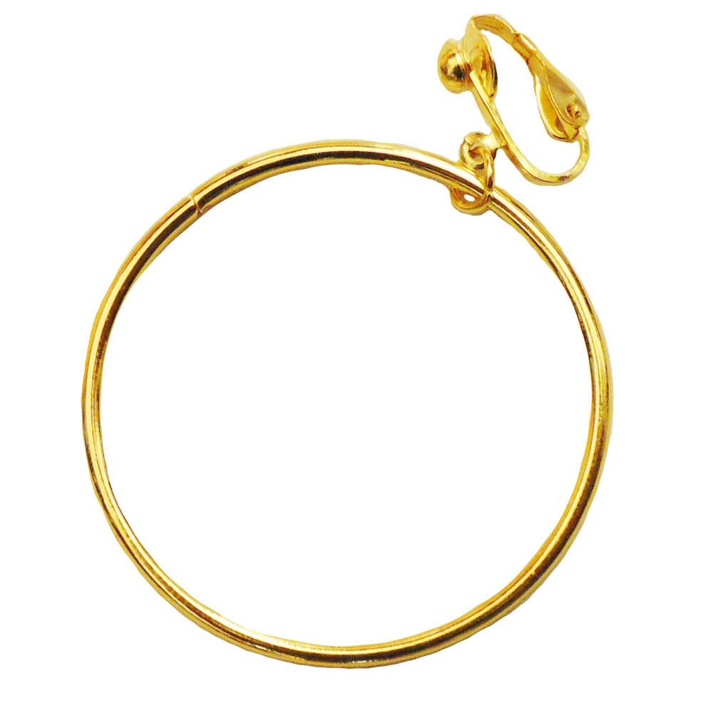 Goldfarbener Piraten-Ohrring - Accessoire für Fasching