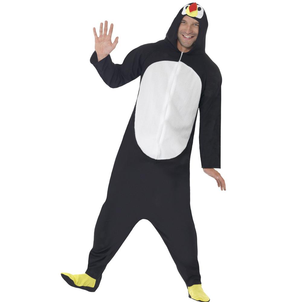 Schwarz-weißes Pinguin-Kostüm für Herren