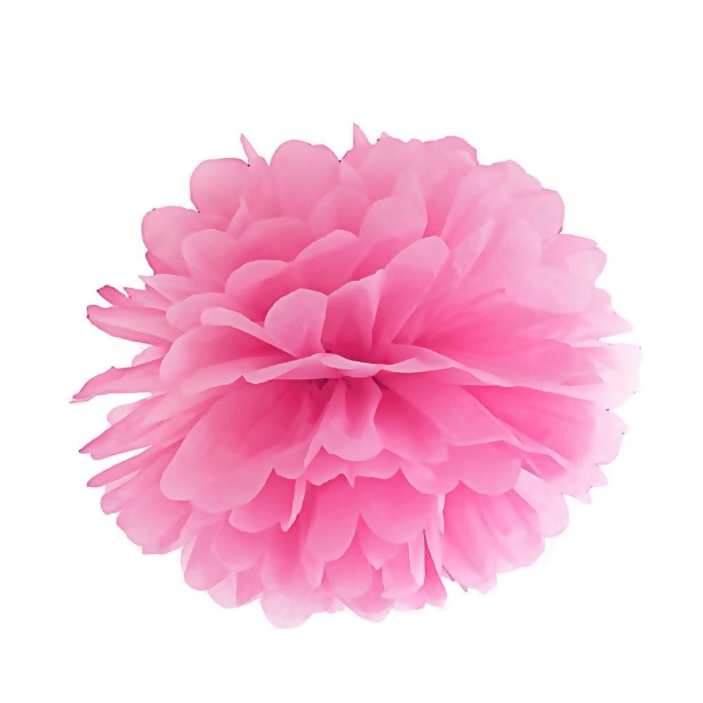 Pinkfarbener Deko-Pom Pom für die Brautparty