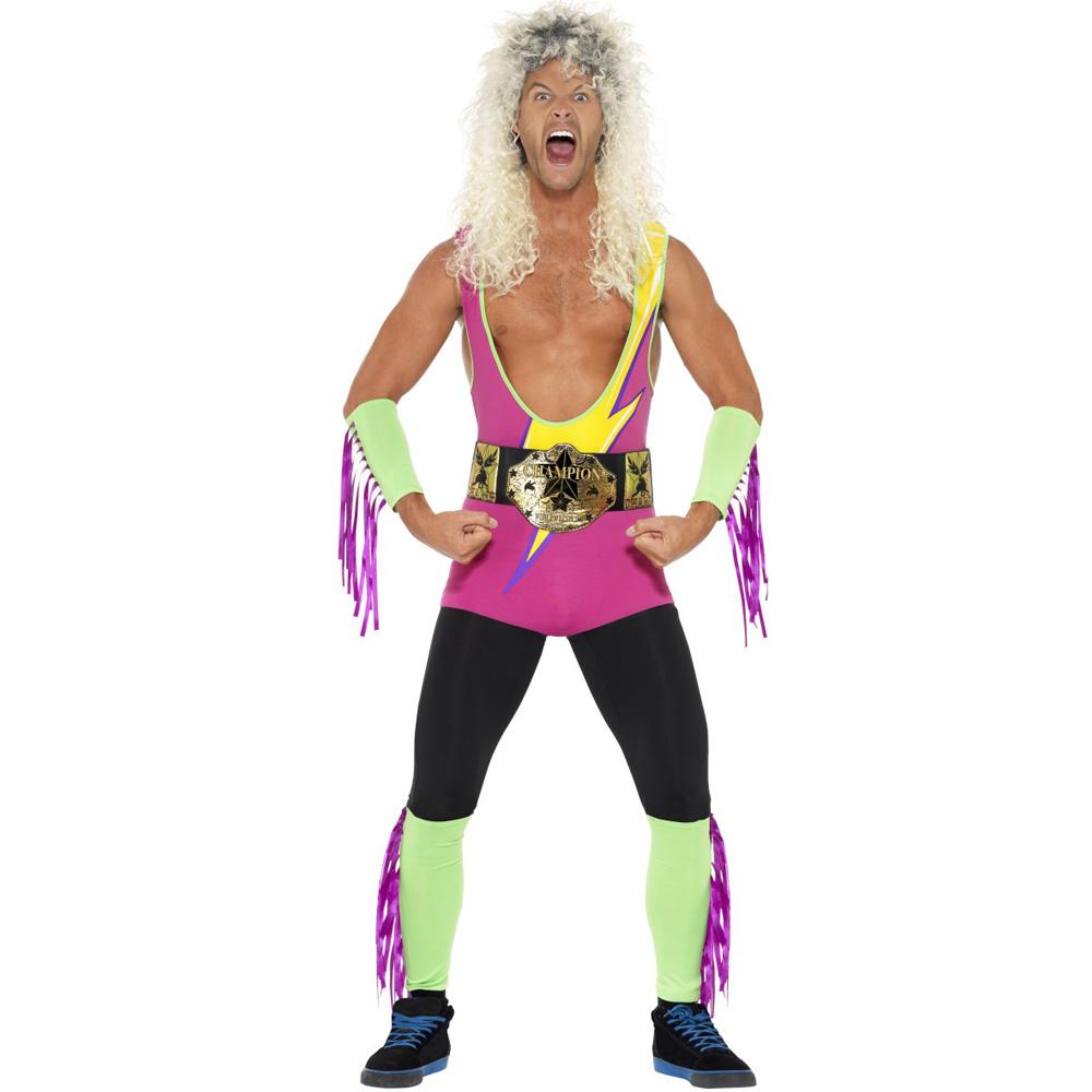 Retro Wrestler-Kostüm für Herren
