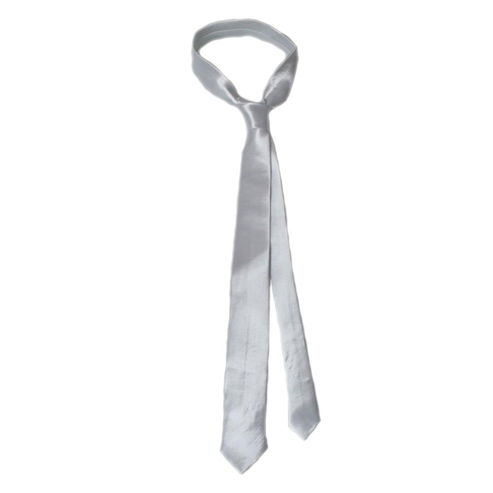 Schmale Retro-Krawatte in Weiß