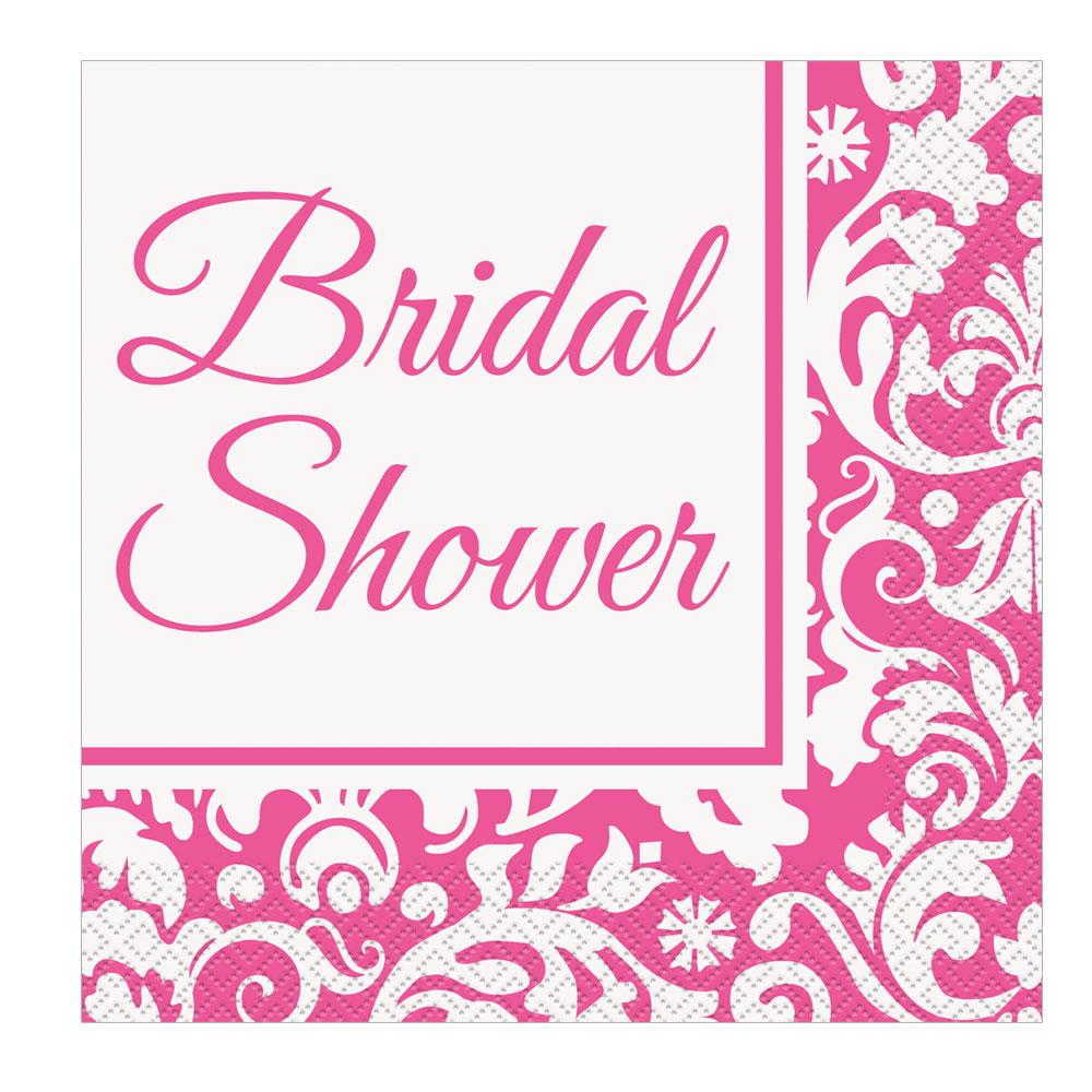 Pinkfarbene Servietten für die Bridal Shower