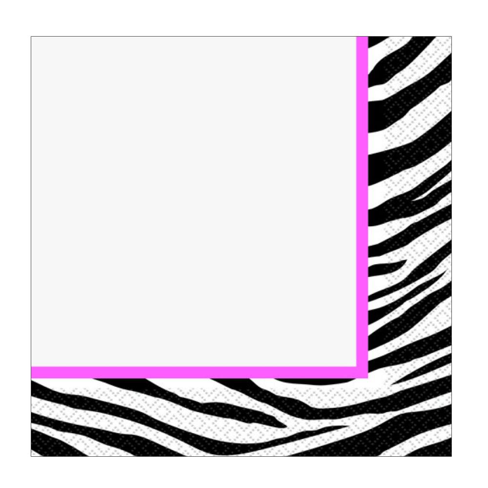 Papier-Servietten im Zebra-Design