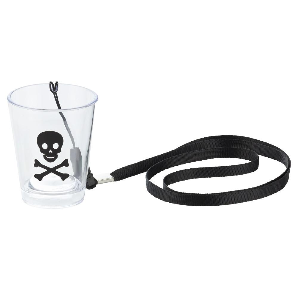 Umhänge-Shotglas mit Totenkopf-Motiv