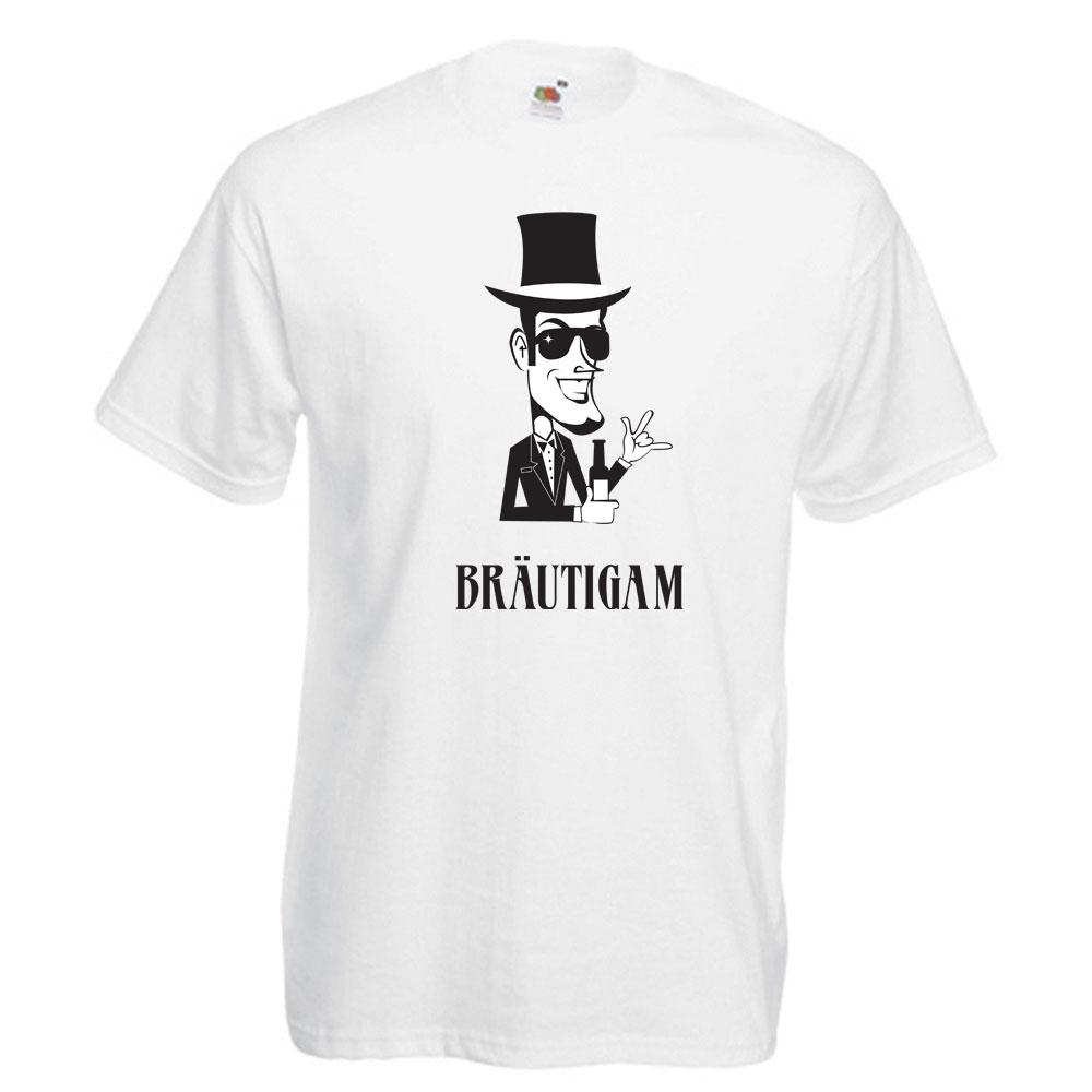 Weißes T-Shirt mit Bräutigam-Aufdruck