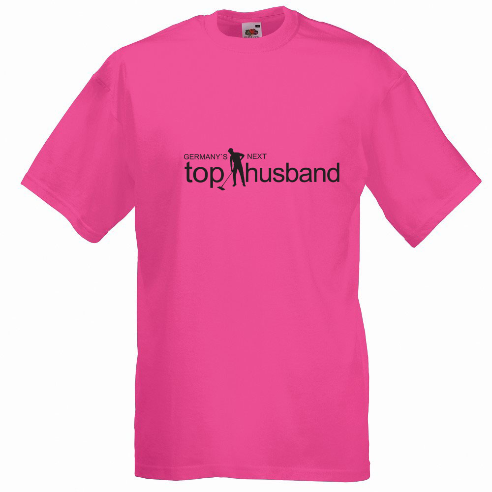 Pinkfarbenes JGA-Shirt mit Aufdruck Germany`s Next Top Husband