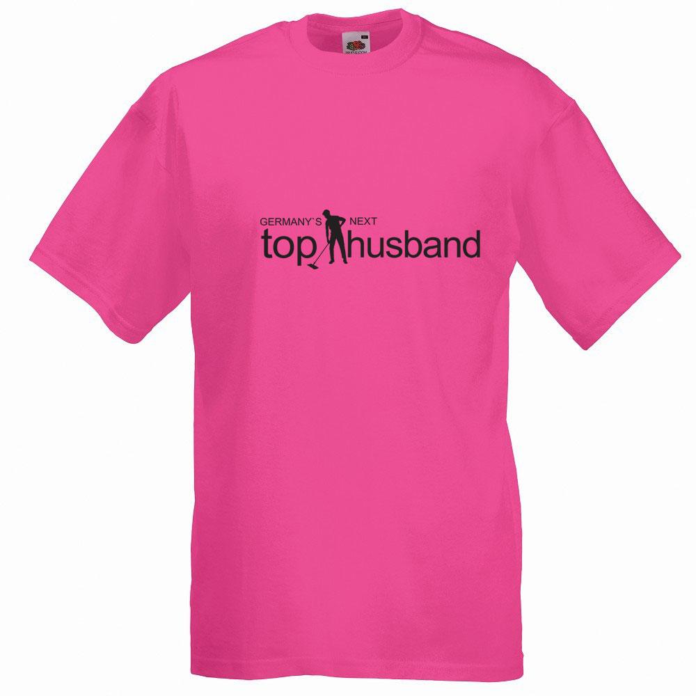 Pinkfarbenes JGA-Shirt mit Aufdruck Germany`s Next Top Husband