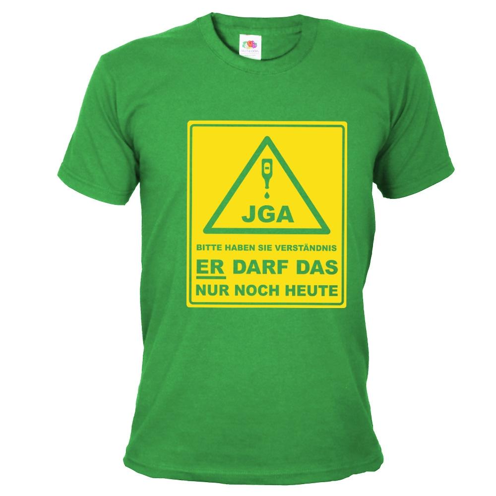 JGA-Shirt Bitte haben Sie Verständnis - Gruppe - Grün